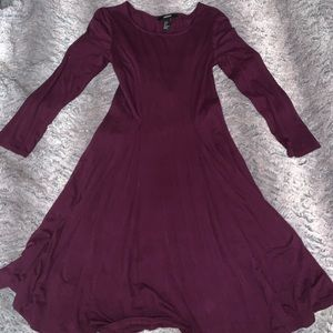 purple long sleeve forever21 dress